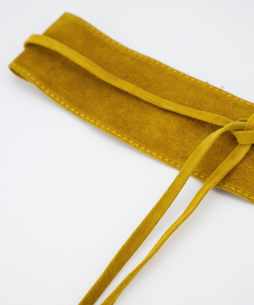 Nikkie - Suede - Waist belts - Yellow - 44