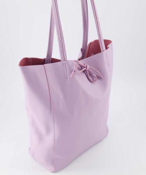 Mia - Classic Grain - Shoulder bags - Purple - D55 -