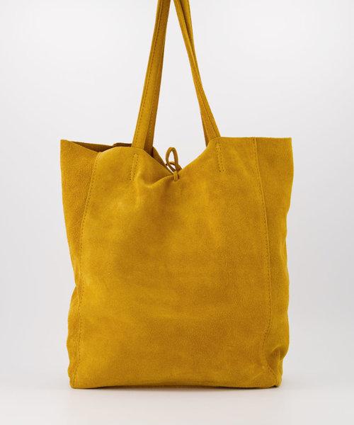 Mia - Suede - Shoulder bags - Yellow - 44 -