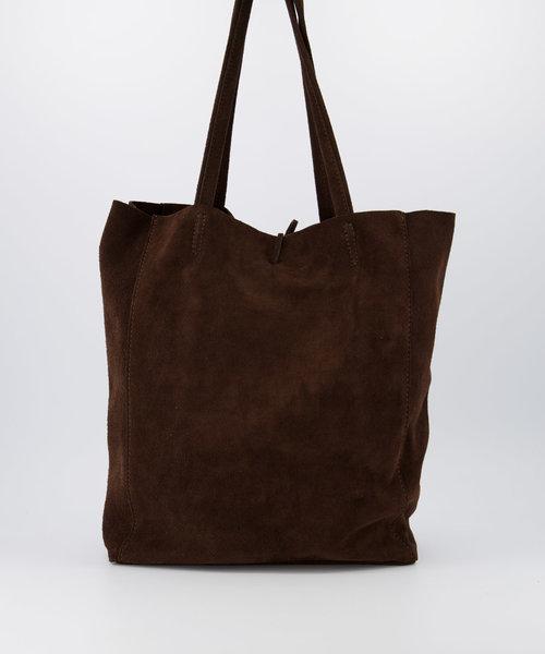 Mia - Suede - Shoulder bags - Brown - 7 -