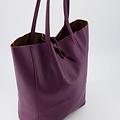 Mia - Classic Grain - Shoulder bags - Purple - D45 -