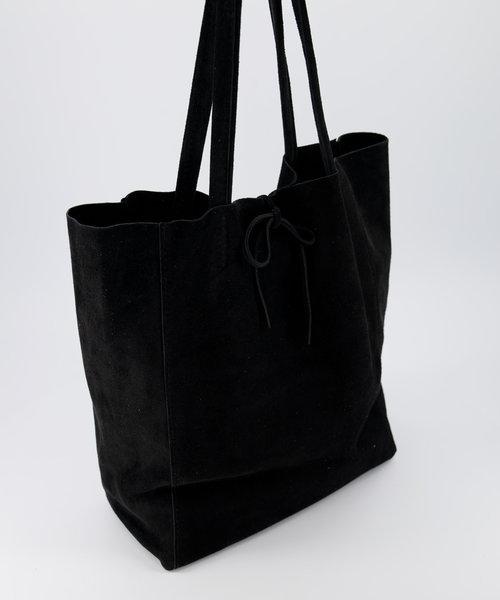 Mia - Suede - Shoulder bags - Black - 23 -