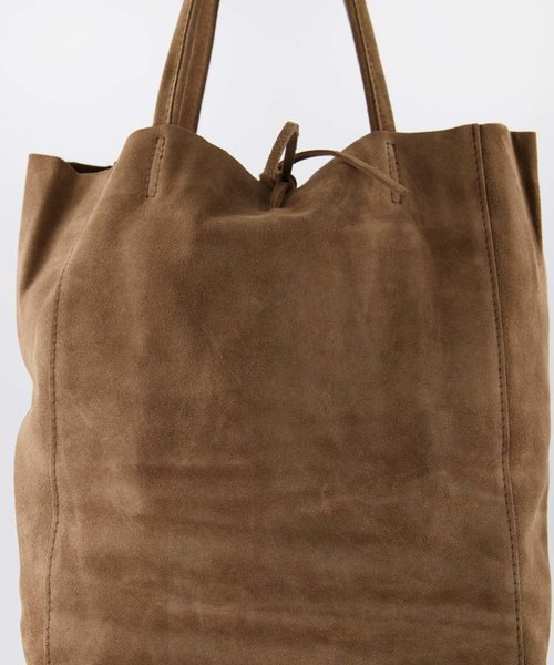 Nieuw Mia - Suede - Shoulder bags - Taupe - 24 -