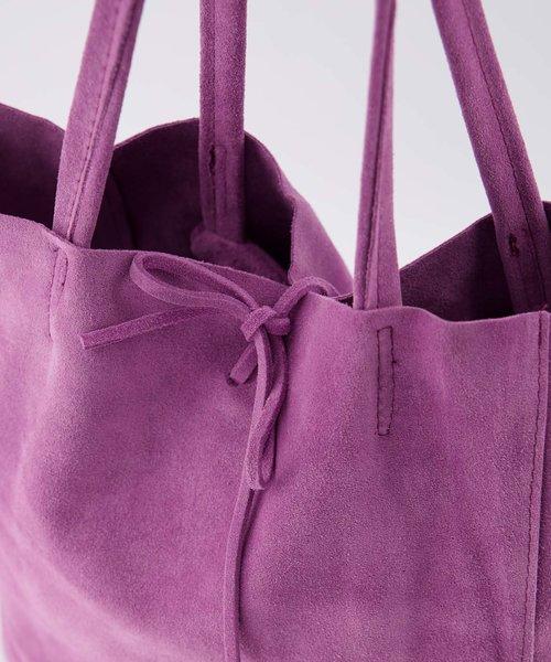 Mia - Suede - Shoulder bags - Purple - 28 -