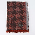 Jessica -  - Scarves - Red - Houndstooth Marone -