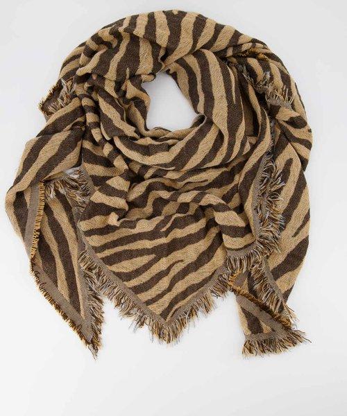 Cheryl - Zebra - Scarves - Brown - Camel/Bruin -