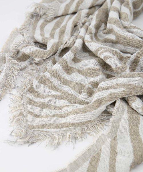Cheryl - Zebra - Sjaals - Beige - Taupe/Wit -