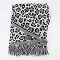 Cheryl - Leopard - Scarves - Black - Zwart/Wit -