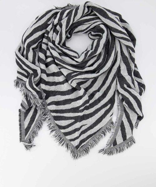 Cheryl - Zebra - Scarves - Black - Zwart/Wit -