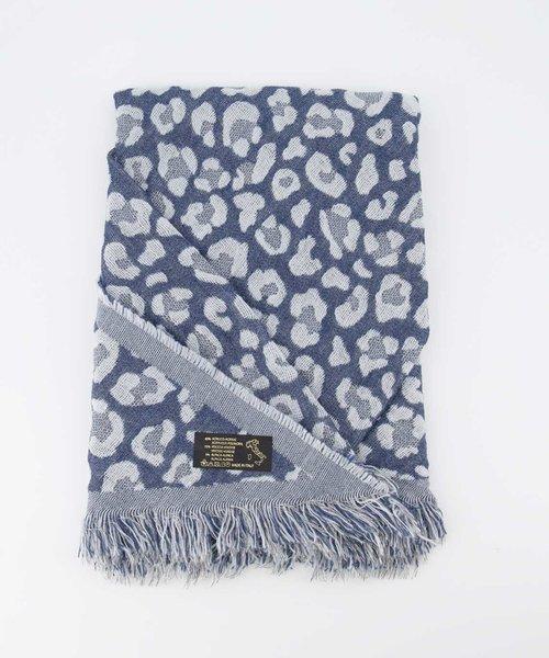 Cheryl - Luipaard - Sjaals - Blauw - Jeans/Blue -