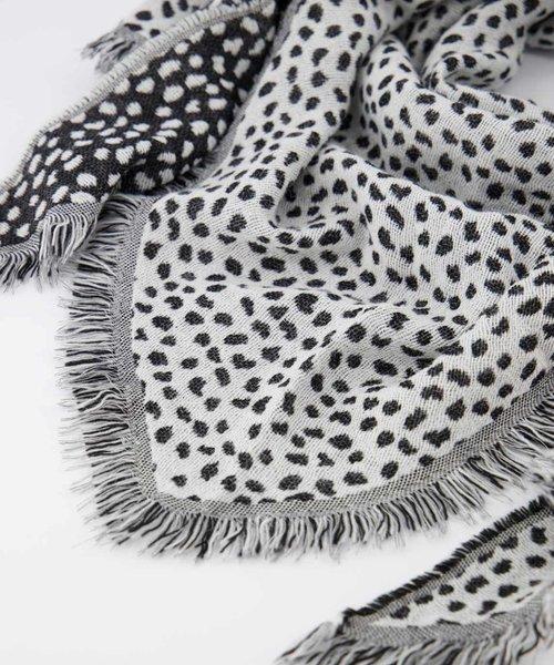 Cheryl - Cheetah - Sjaals - Zwart - Zwart/Wit -