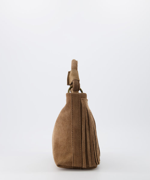 Frankie - Suede - Hand bags - Taupe - 24 - Bronze