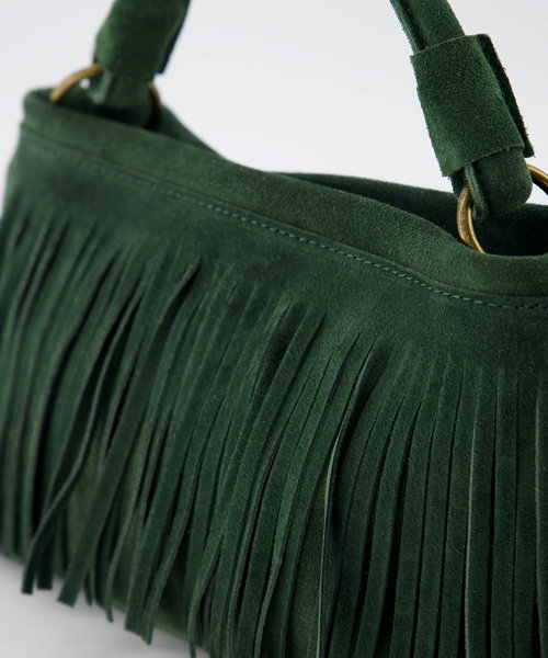 Frankie - Suede - Hand bags - Green - 39 - Bronze