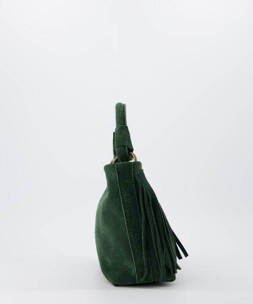 Frankie - Suede - Handtassen - Groen - 39 - Bronskleurig