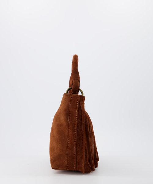 Frankie - Suede - Hand bags - Brown - Cognac 37 - Bronze