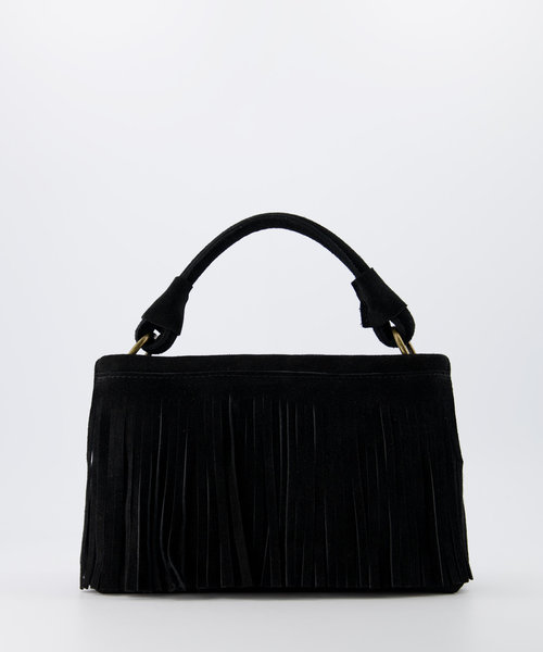 Frankie - Suede - Handtassen - Zwart - 23 - Bronskleurig