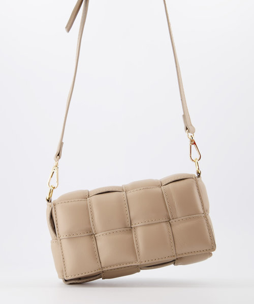 Bodina Small - Sauvage - Crossbody bags - Taupe - S39 - Gold