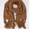 Vivian -  - Effen sjaals - Bruin - Camel 7913 -