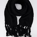 Vivian -  - Effen sjaals - Zwart - 1200 -