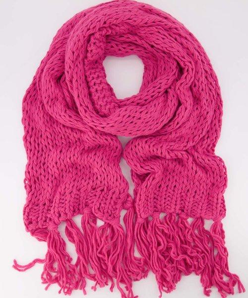 Vivian -  - Effen sjaals - Roze - Fuchsia 7463 -