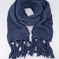 Vivian -  - Plain scarves - Blue - Jeans 1165 -