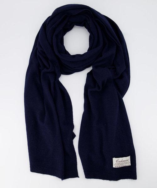 Cassy -  - Plain scarves - Blue - Donkerblauw 604 -