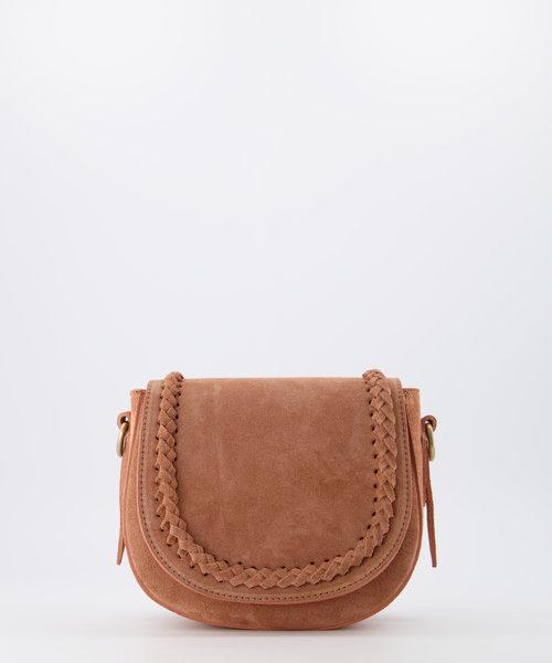 Chelsea - Suede - Crossbody bags - Pink - 62 - Bronze