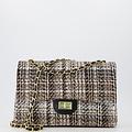 Audrey Groot Tweed - Tweed - Crossbodytassen - Beige/Zwart -  - Goudkleurig