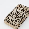 Jackie - Suede - Portemonnees - Cheetah - Zand 04 - Goudkleurig