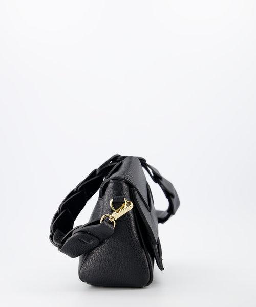 Gitta - Classic Grain - Handtassen - Zwart - D28 - Goudkleurig