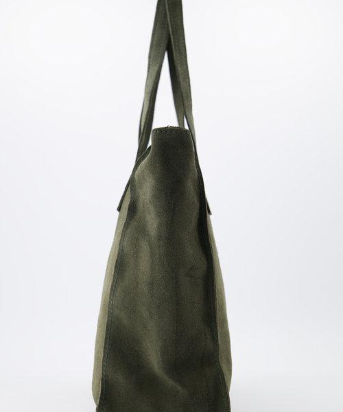Cleo - Suede - Handtassen - Groen - 49 - Bronskleurig
