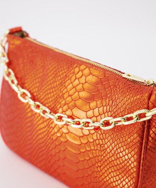 Andy - Metallic - Handtassen - Oranje - 520 - Goudkleurig