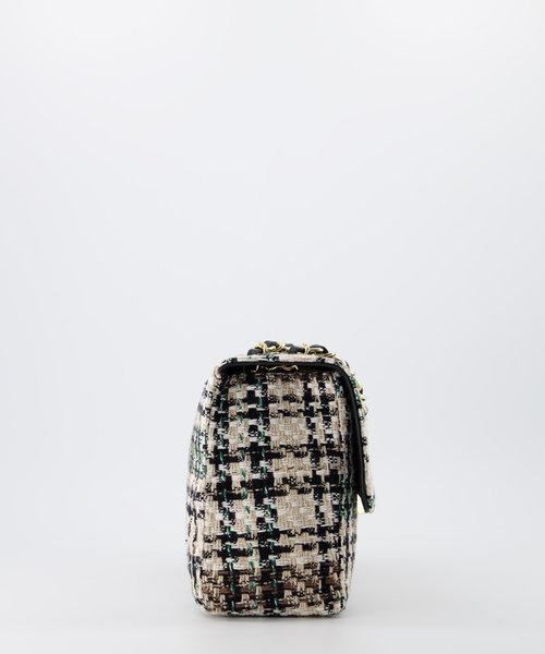 Audrey Medium Tweed - Tweed - Crossbodytassen - Groen/Zwart -  - Goudkleurig