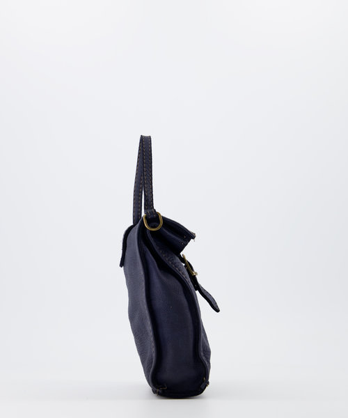 Veerle - Washed - Crossbodytassen - Blauw -  - Goudkleurig