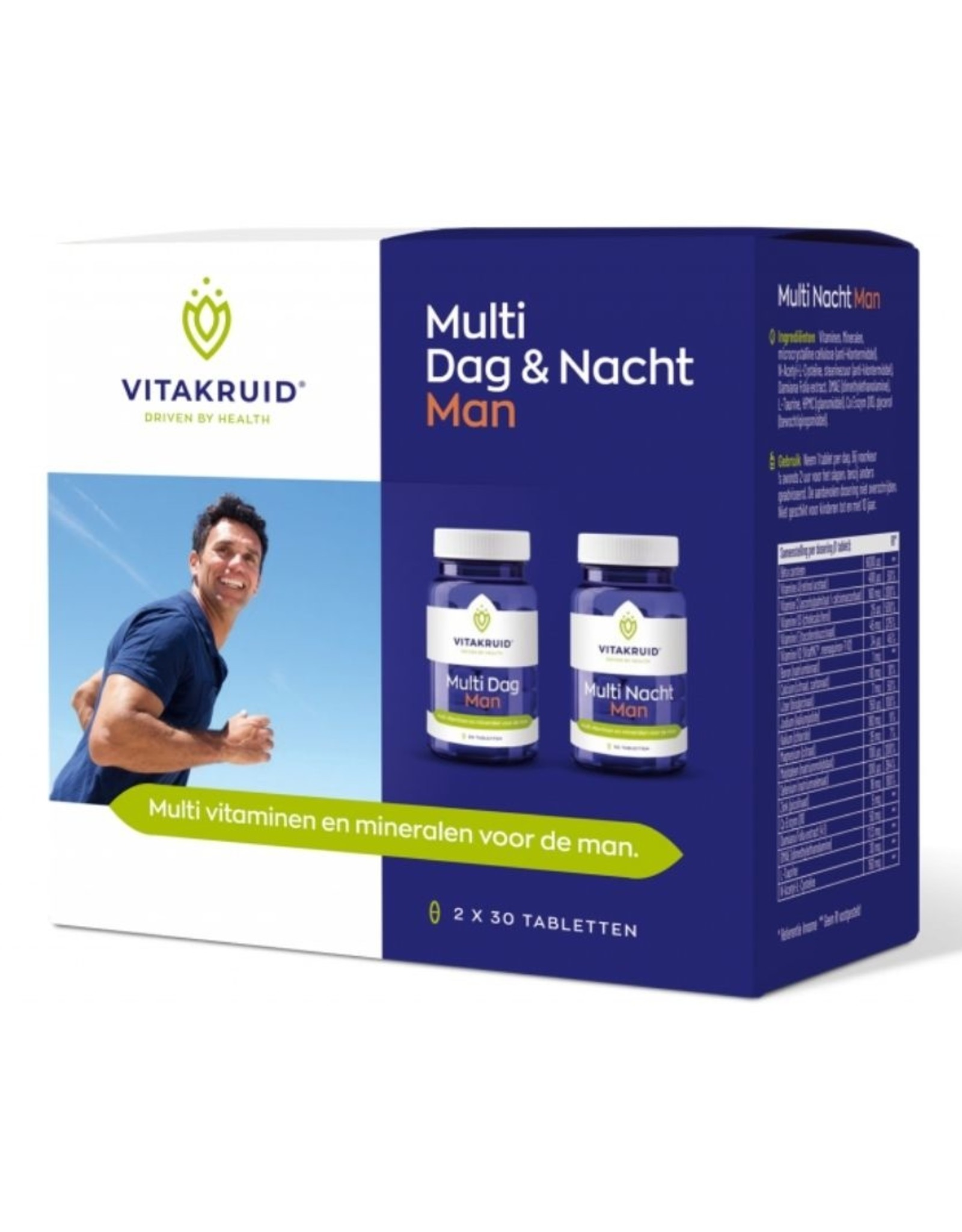 Vitakruid Multivitamine Dag & Nacht Man