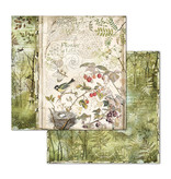"""Stamperia Block 10 Sheets 30.5x30.5 (12""""x12"""") Double Face Forest"""