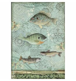 Stamperia A4 Rice paper packed Forest fish
