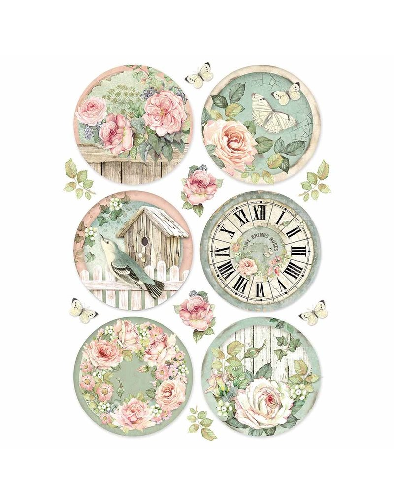 Stamperia A4 Rice paper packed Round clocks