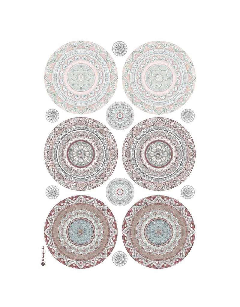 Stamperia A4 Rice paper packed Mandala