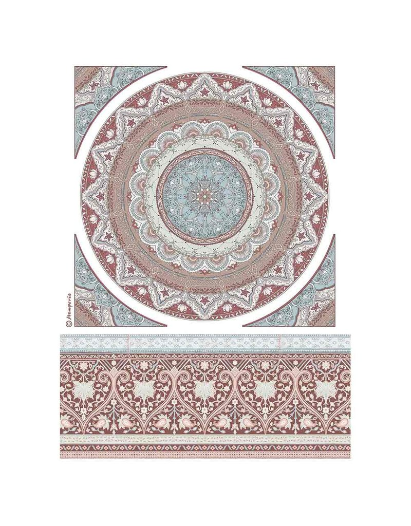Stamperia A4 Rice paper packed Mandala lace