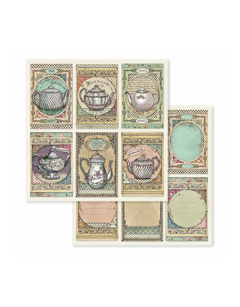 """Stamperia Block 10 sheets 20.3X20.3 (8""""X8"""") Double Face Alice"""