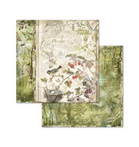 """Stamperia Block 10 sheets 20.3X20.3 (8""""X8"""") Double Face Forest"""