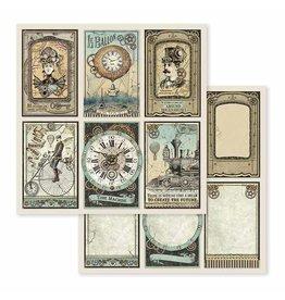 Stamperia Double Face Paper Voyages Fantastiques cards