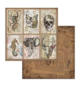 Stamperia Double Face Paper Mechanical Fantasy cards