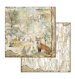Stamperia Double Face Paper Forest fox