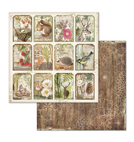 Stamperia Double Face Paper Forest Tag