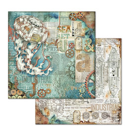 Stamperia Double Face Paper Sea World medusa