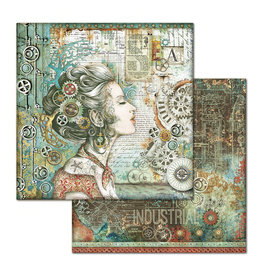 Stamperia Double Face Paper Sea World lady