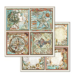 Stamperia Double Face Paper Sea World frames