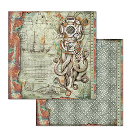 Stamperia Double Face Paper Sea World octopus